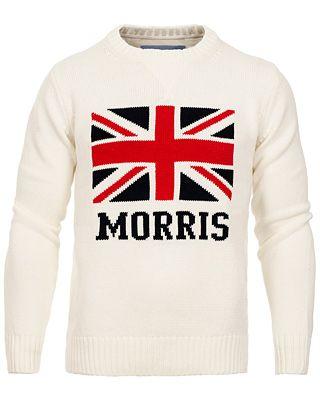 Morris Union O-Neck Sweater Off White