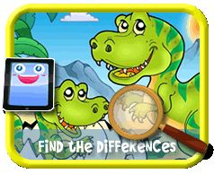 Cartoon Dinosaurs - Find the Differences Game for Kids