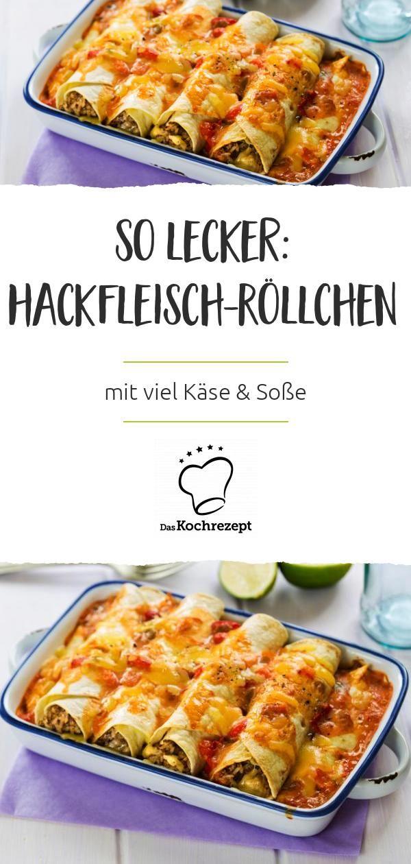 Überbackene Enchiladas mit Hackfleisch-Füllung