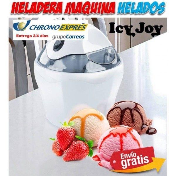 Original regalo de cocina para el hogar. Se trata de una heladera o maquina para hacer ricas recetas de helados caseros tu misma. Icy Joy hace helados artesanales en menos de 20 minutos. Un electrodomestico que puedes comprar en la tienda online Yougamebay.