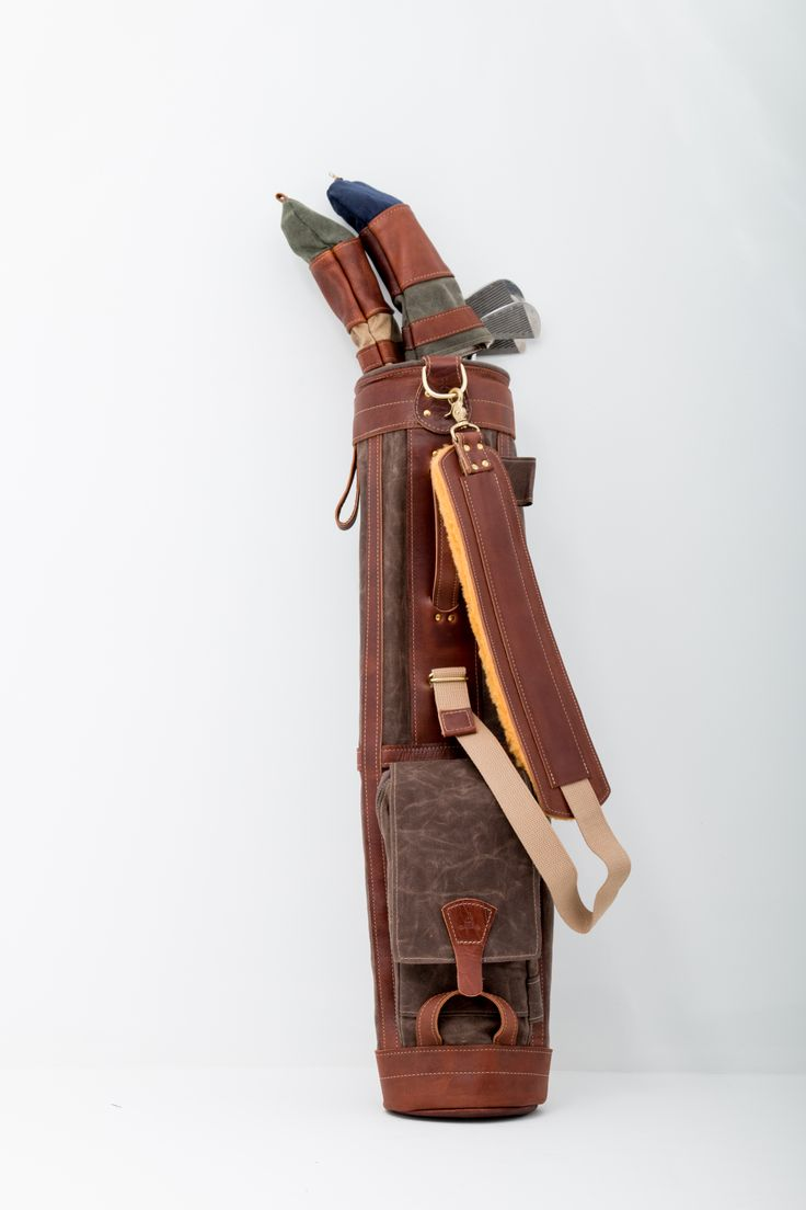 designed for both carry and golf cart our leather and canvas sunday golf bags timeless bags