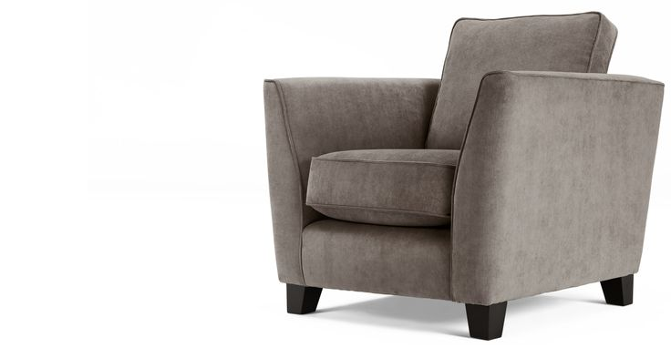 Wolseley Armchair, Mid Grey Corduroy