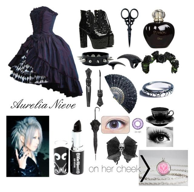 """Black Butler Oc: Aurelia"" by animekitten101 ❤ liked on Polyvore featuring beauty, The BrowGal, Christian Dior, Anna Sui, Shop Dixi and GAS Jeans"