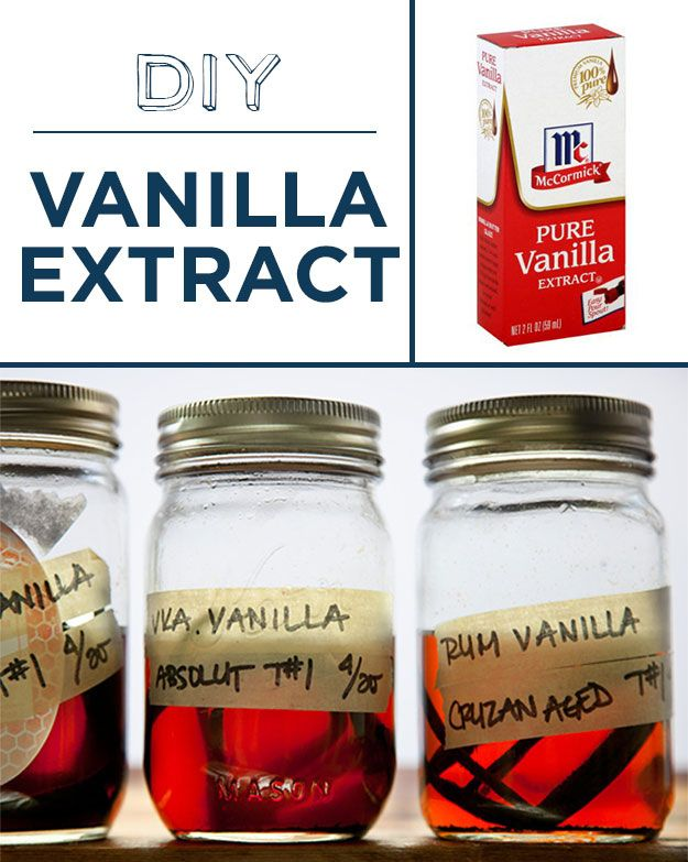 Soak vanilla beans in booze to make your own vanilla extract and 29 other DIY foods! Totally doing this for Christmas gifts!!