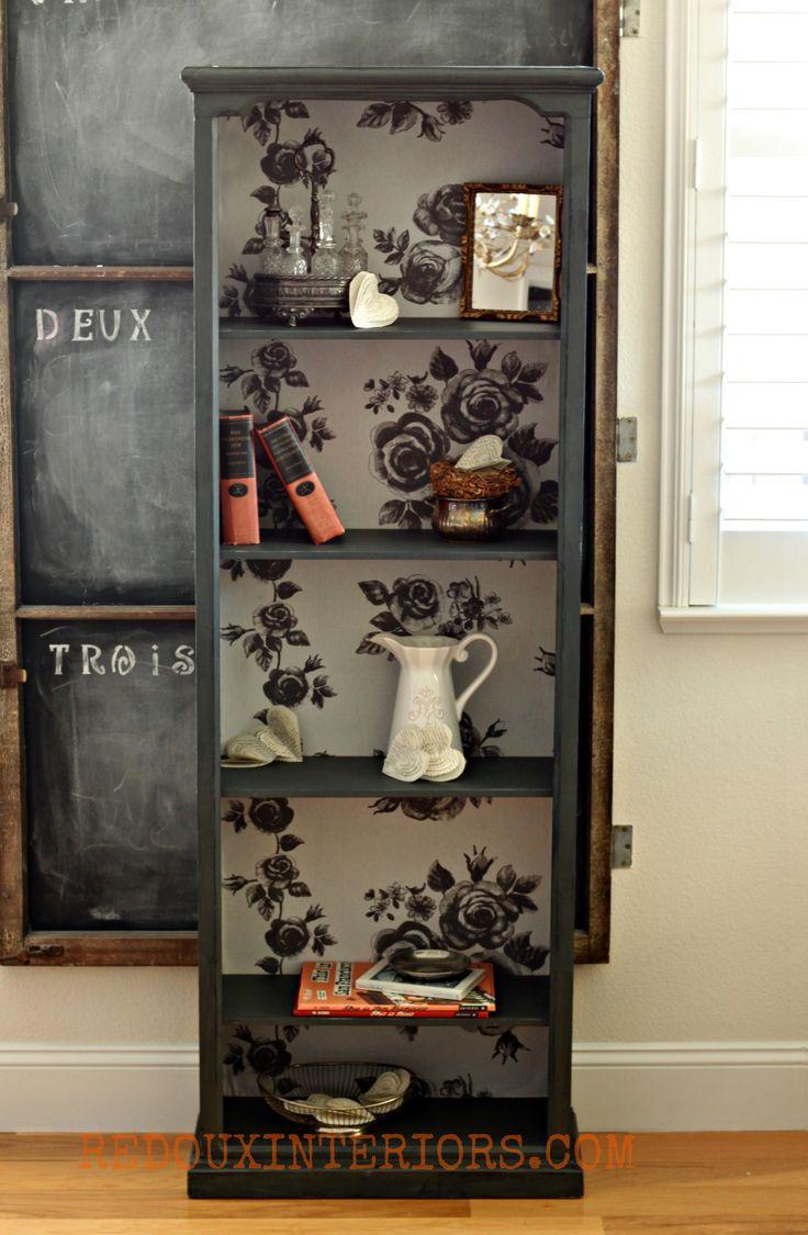 Dumpster found bookshelf, major makeover
