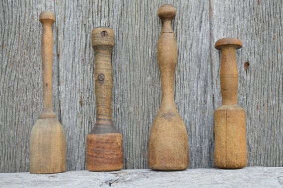 Antique Wooden Potato Mashers Rustic Kitchen by EasyVintageHome, $38.00