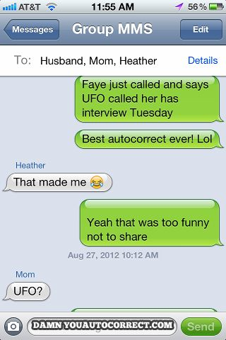 Autocorrect fail - Job out of this world - http://jokideo.com/