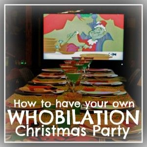Ever wanted to throw an awesome Christmas party? Here's how to throw a Whovilation much like the one from the classic Christmas movie: THE GRINCH.