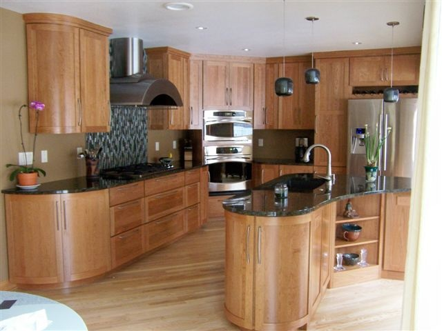 Via Garden Web Natural Cherry Cabinets Ash Floors Granite Counters Verde Peacock Kitchen Design Pinterest Kitchens Cherry Cabinets And House