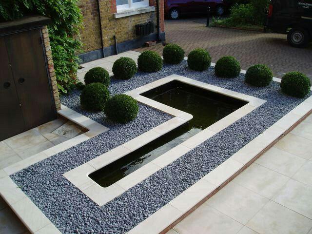 92 besten Inspiration Garten Vorgarten Bilder auf Pinterest - moderner vorgarten mit kies