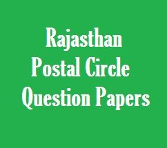 Rajasthan Postal Circle Exam Question Papers in Hindi download