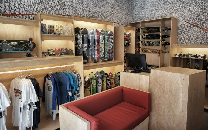 Skate Collective store by Stone Designs, 2012 Barcelona (Spain) #sk8 #StoneDesigns