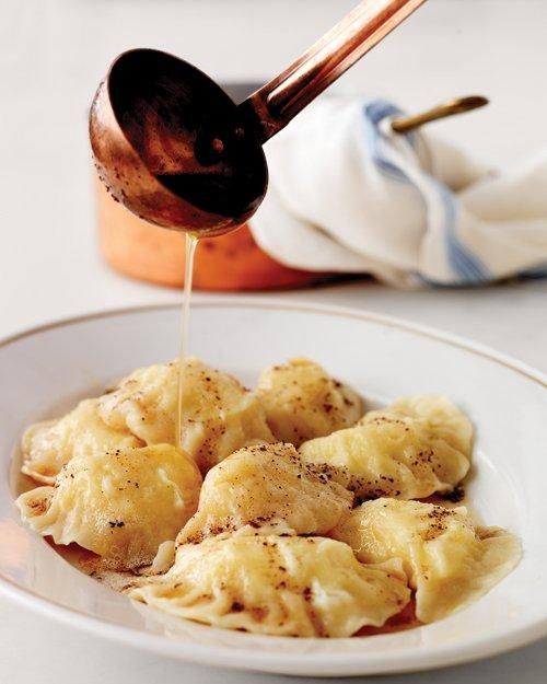 Pierogi with Potato Filling and Brown Butter Recipe