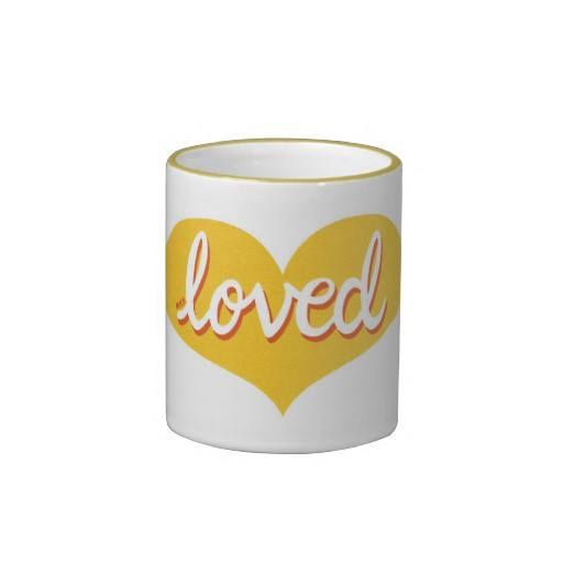 Coffee mug Yellow heart design Available in a range of styles and designs