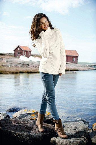 Women's Tops - Capture Roll Neck Sweater