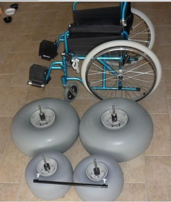 Rodas em poliuretano de baixa pressão
