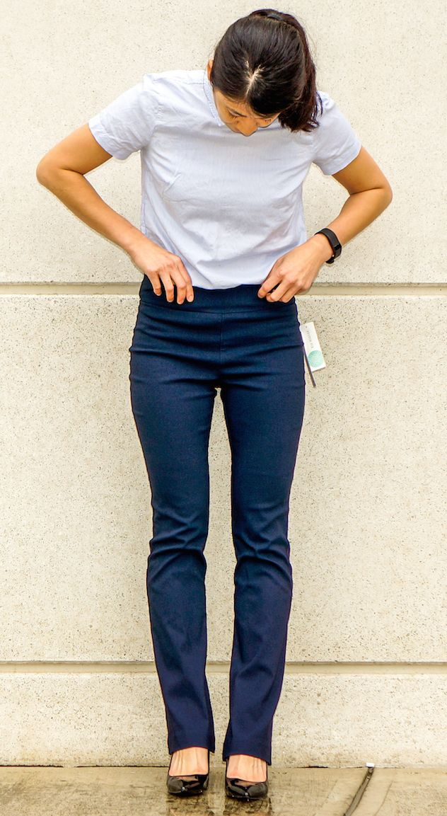 #stitchfix @stitchfix stitch fix https://www.stitchfix.com/referral/3590654 MARGARET M Emer Bootcut Pant - I'd like them in bootcut length/width in Navy like this picture!