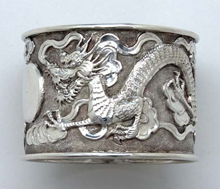 Chinese Export Silver Napkin Ring, c. 1900