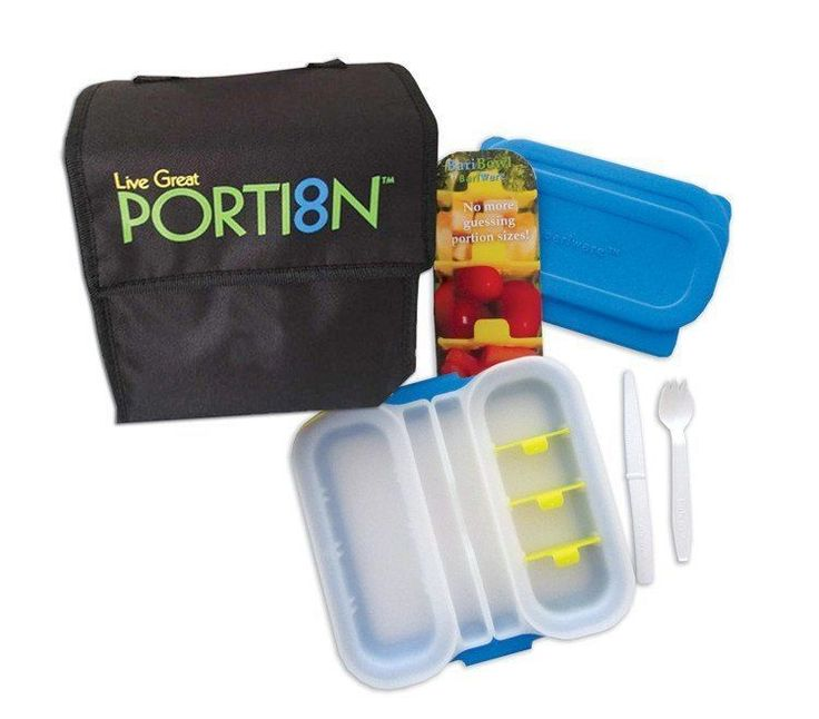 A portion-control plate designed for the Bariatric patient. Portion sizes are adjustable from 1-4 oz in each bowl. Each set includes: One Brilliant Blue, Perfec