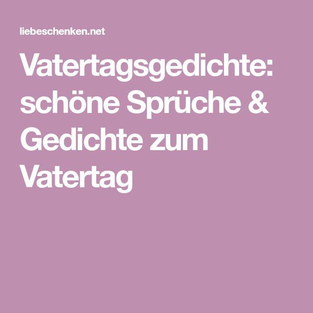 Vatertagsgedichte: Schöne Sprüche U0026 Gedichte Zum Vatertag