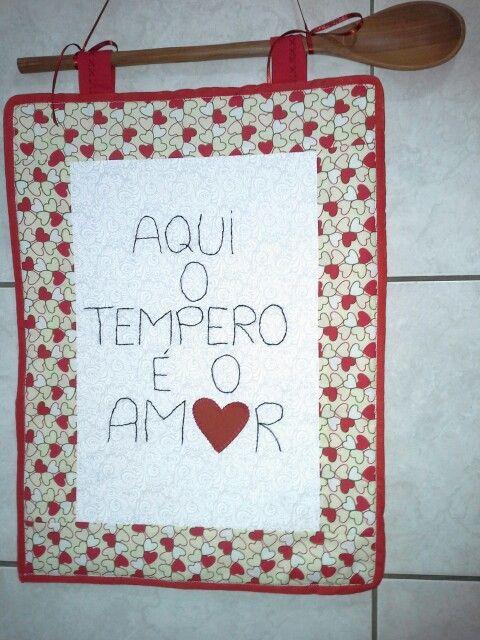 Painel de patchwork - aqui o tempero é o amor! ♥
