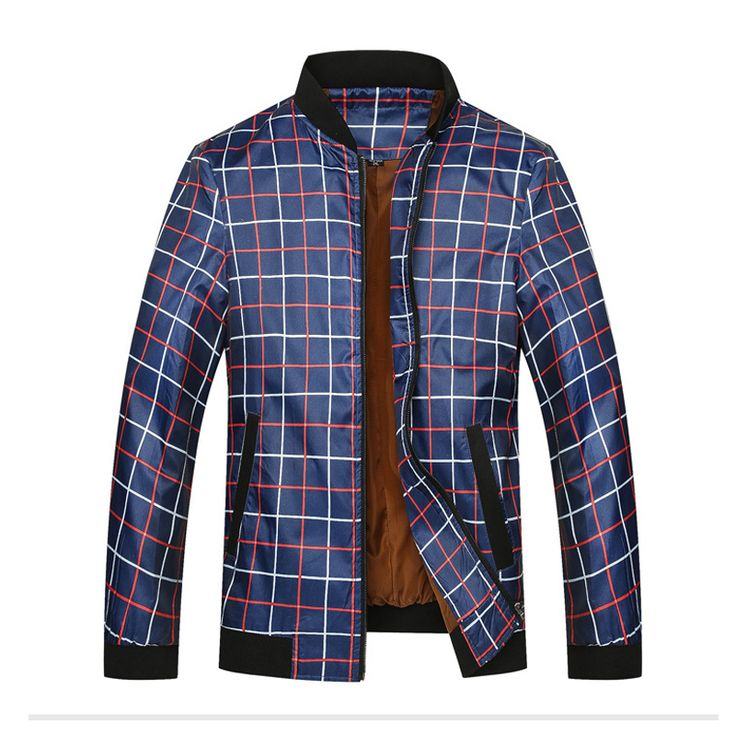 Men Golf Jackets Large Size M To 6XL 2017 Spring New Style Thin Windproof Breathable Lattice Pattern Bowling Golf Sport Coat