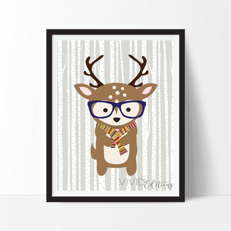 Hipster Woodland Deer