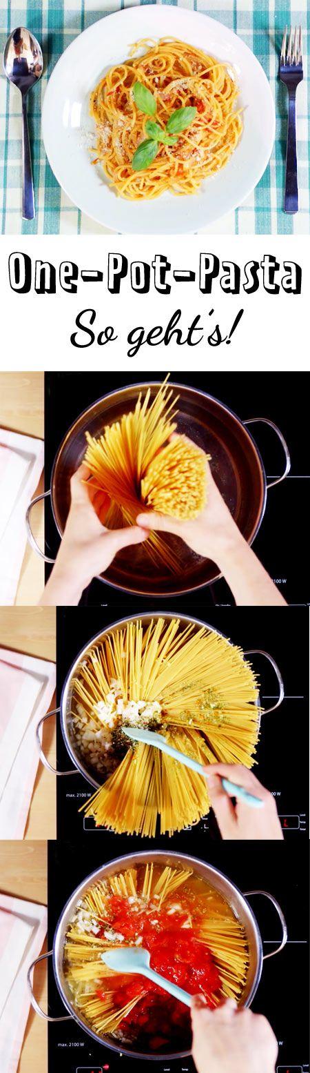 Für diese One-Pot-Pasta brauchst nur einen Topf, wenige Zutaten und rund 10 Minuten Zeit. So geht's.