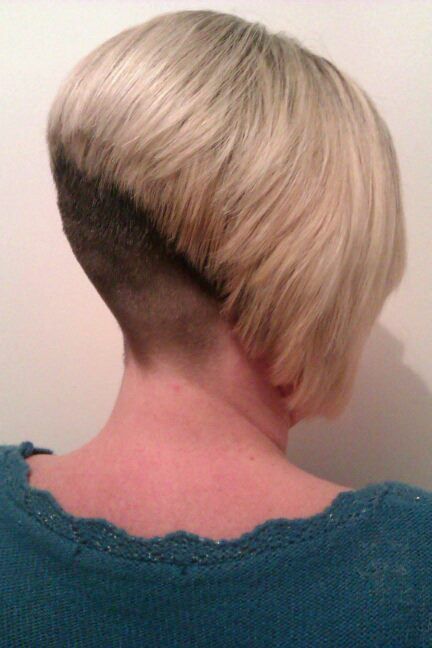 For shaved her nape