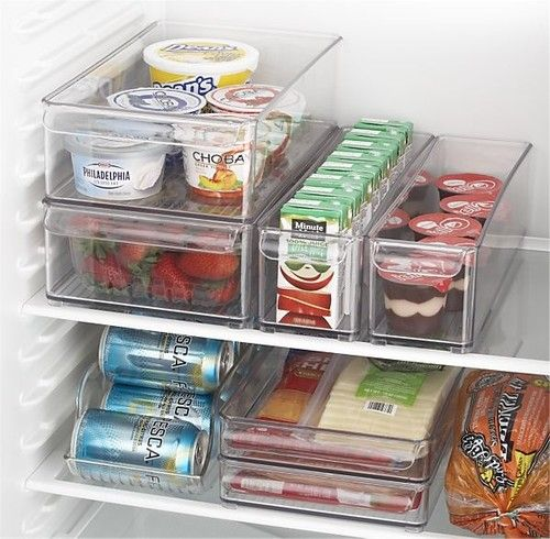 Fridge Bins and Organizer and Tray - contemporary - food containers and storage - Crate