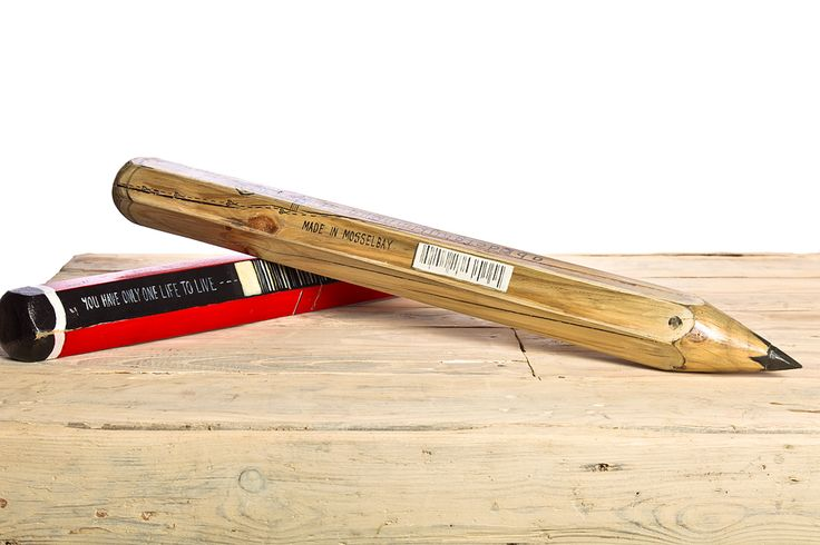 Lager than life wooden pencils