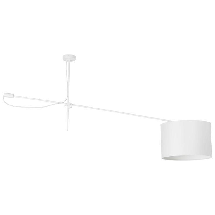 Plafon LAMPA sufitowa VIPER 6640 Nowodvorski abażurowa OPRAWA ruchoma na wysięgniku biały