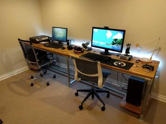 The Final Setup In 2020 Home Office Setup Game Room Design