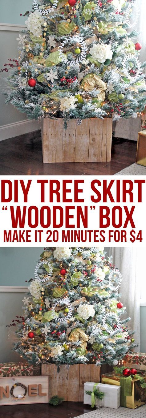 DIY Faux Barn Wood Christmas Tree Stand идеи к н/г Pinterest - dollar general christmas decorations