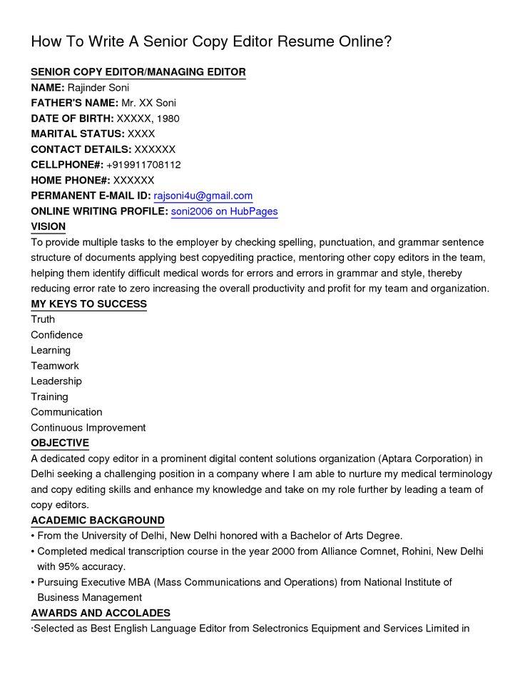 resume editor service free cover letter sample copy Home Design - copy editor resume