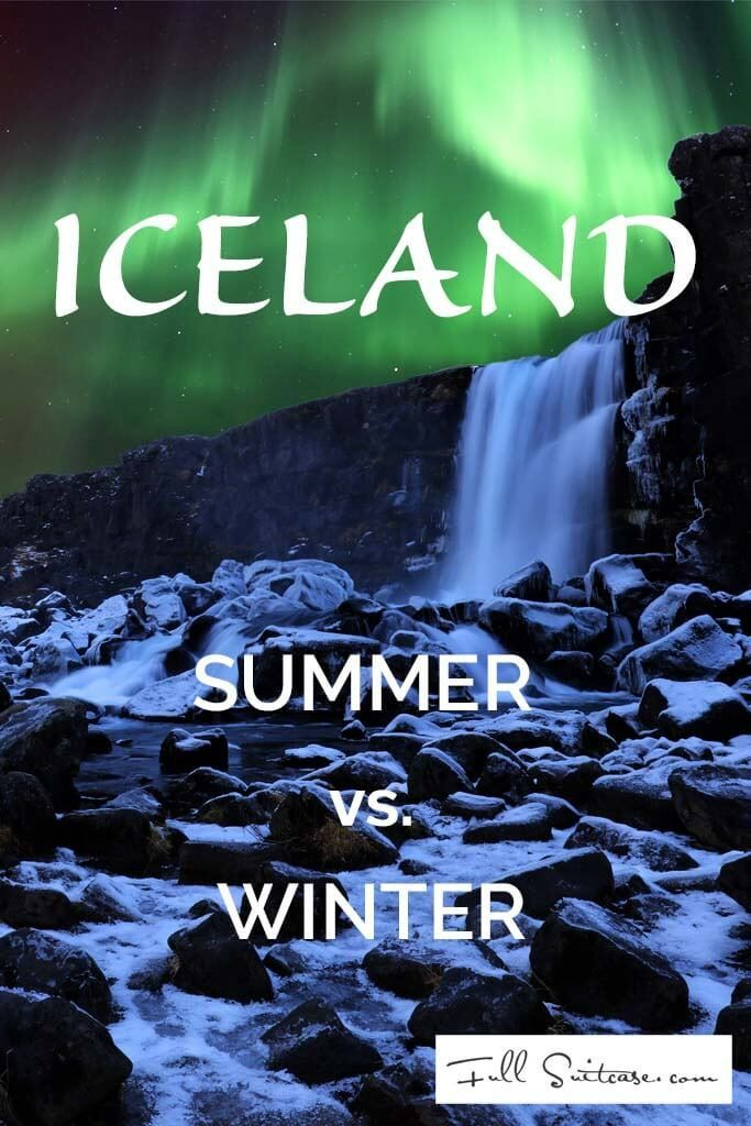 Iceland summer vs winter