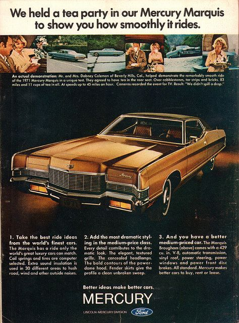 The Oldie But Goodie 1971 Mercury Marquis Advertisement Time Magazine January 25 1971