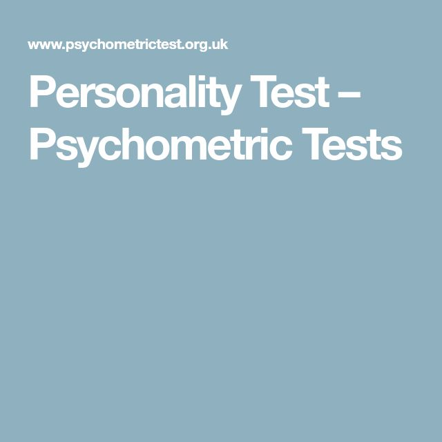Personality Test – Psychometric Tests