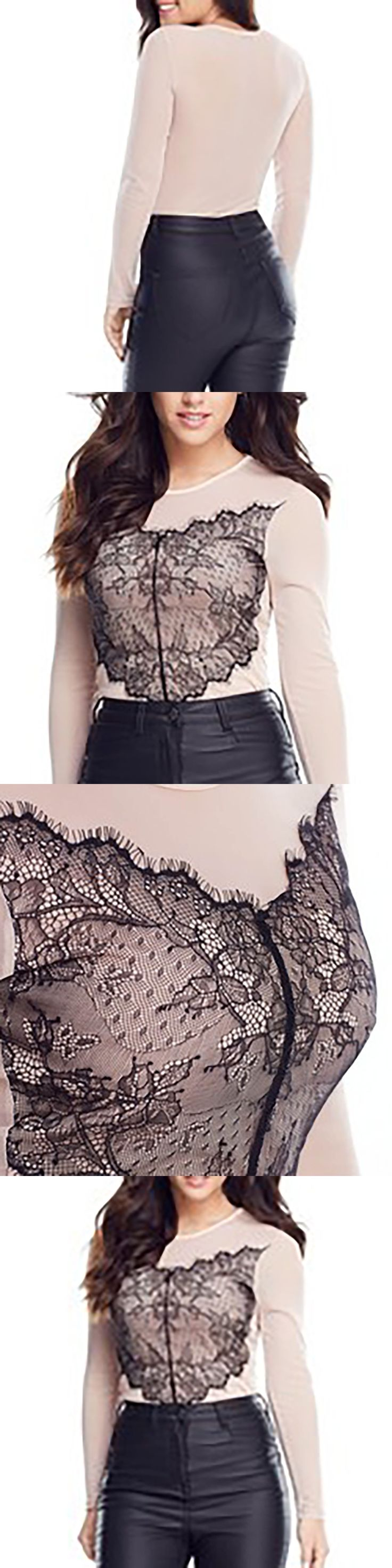 Women Summer fashion Lace Tight suit sets Girl Conjoined tights female lace One-body tight wear patchwork leotard Women's Sets