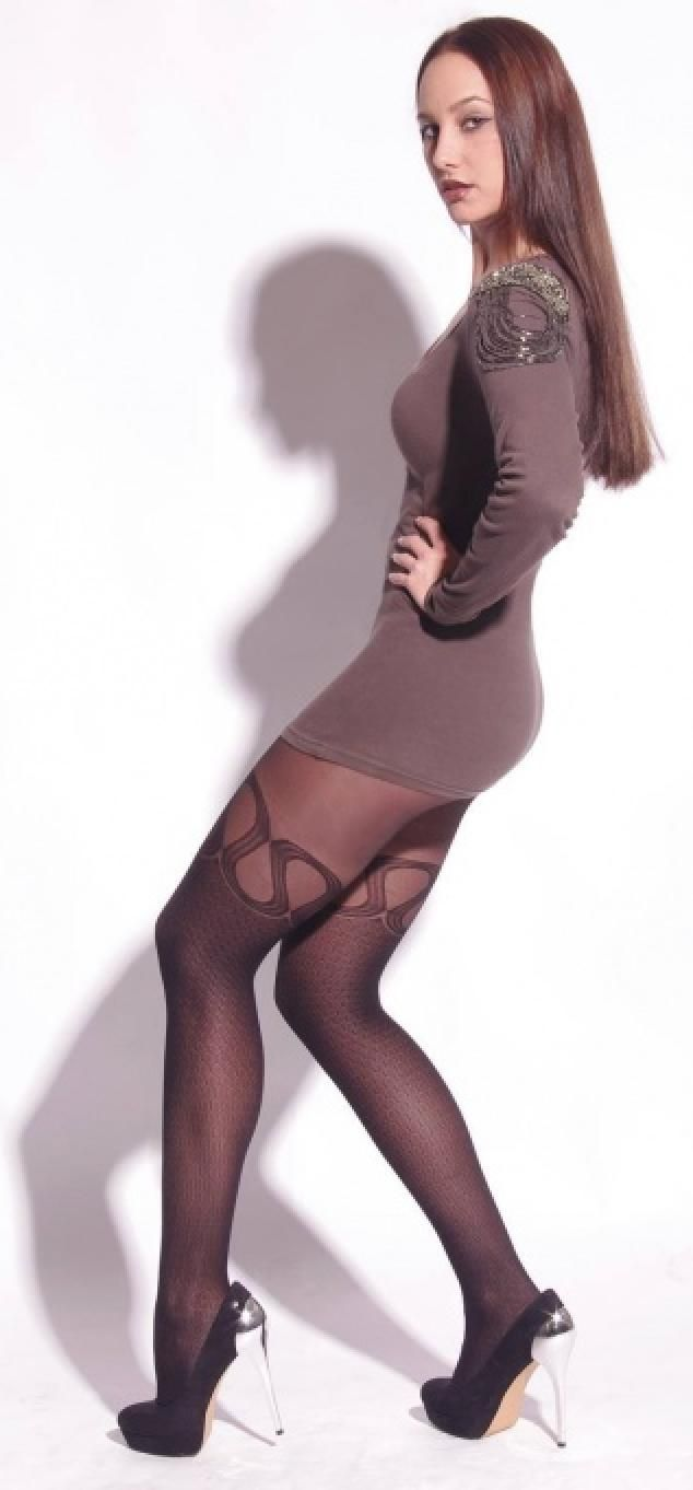 Grandmother wearing pantyhose