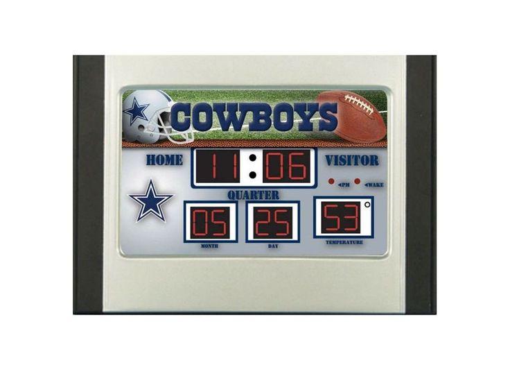 Dallas Cowboys Scoreboard Desk & Alarm Clock