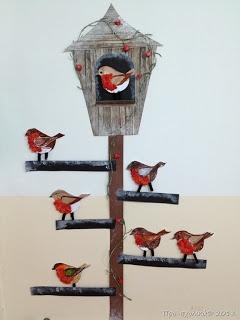 Maro's kindergarten: Winter Birds crafts #wintercrafts  #birdcrafts