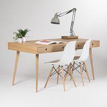 Duże biurko z szufladami, mid century, 160x75, meble - domowe biuro - biurka