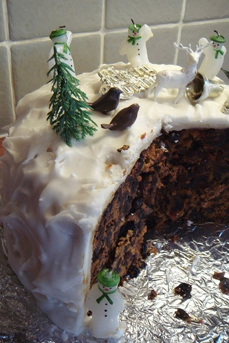 Incredible snow scenes remind me of my Mum's fruit cake!  english christmas cake - Google Search