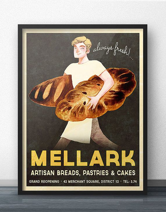 Peeta Mellark Bakery Vintage Inspired Poster by WindowShopGal