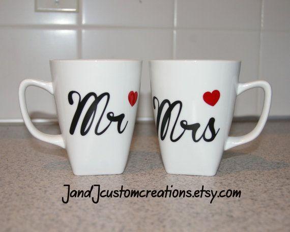 Engraved Wedding Coffee Mugs : and Mrs Coffee mugs, personalized Coffee Mug, Wedding gift coffee mugs ...