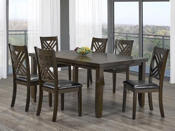 Elliott Dining Table Set  #www.craftmansfurniture.ca #furniture #furnituredesign #interiordesign #interiors #furnishing #couches #sofas #bedroomset #diningtable #rugs #coffeetables #canvas #endtables #accessories #accentchairs #canadianmade #solidwood #barstools #mirrors #heartlandtowncentre #handmade #mississauga #contemporaryart #bedroomdecor #homedecor #modernfurniture