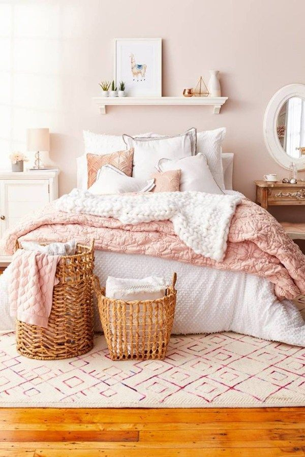 Blush Pink Bedroom Ideas Dusty Rose Bedroom Decor And Bedding I Love Clever Diy Ideas Pink Bedroom Design White Bedroom Decor Dusty Pink Bedroom