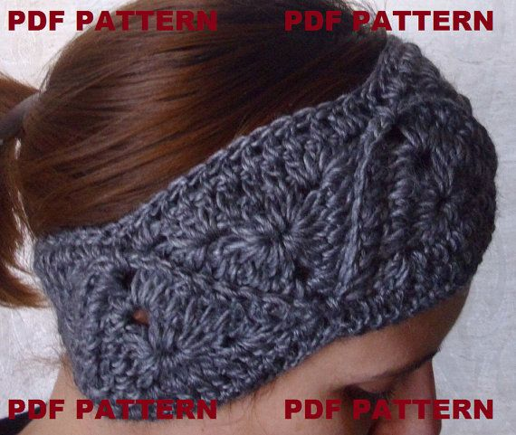 Crochet Headband Headwrap Pdf Pattern By Threemagicsheep