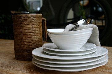 Sophie Conran 4 Piece Place Setting - Contemporary - Dinnerware Sets - greige/Fluegge Interior Design, Inc.